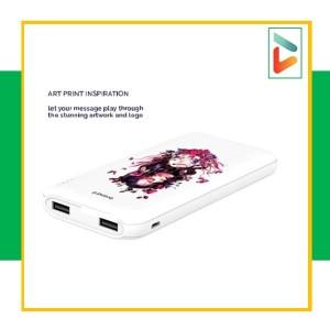 Harga powerbank premium 12 000 mah putih   gratis laser nama   HARGALOKA.COM