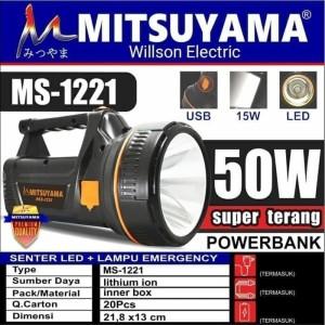 Harga senter led 50w super terang lampu emergency powerbank   HARGALOKA.COM