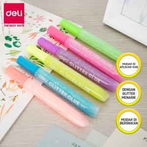 Harga deli ea71301 neon glitter glue 12ml 6c lem glitter isi | HARGALOKA.COM