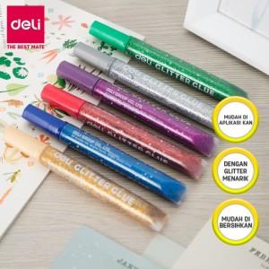 Harga deli ea71101 classic glitter glue 12ml 6c lem glitter isi | HARGALOKA.COM