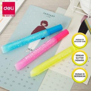 Harga deli ea71201 neon glitter glue 12ml 3c lem glitter isi | HARGALOKA.COM