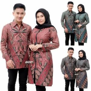 Harga couple tunik batik tunik batik jumbo kemeja pria lengan panjang | HARGALOKA.COM
