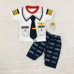Harga setelan baju anak laki laki pilot usia 6 24 bln   | HARGALOKA.COM
