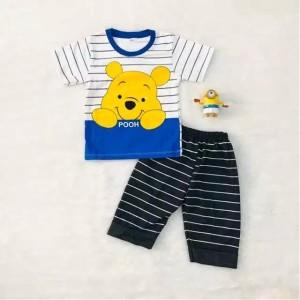 Harga 6 24 bln setelan baju anak laki laki motif pooh   | HARGALOKA.COM