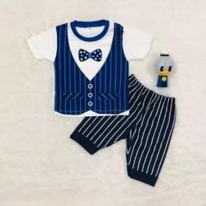 Harga 6 24 bln setelan baju anak laki laki motif rompi dasi pita   | HARGALOKA.COM