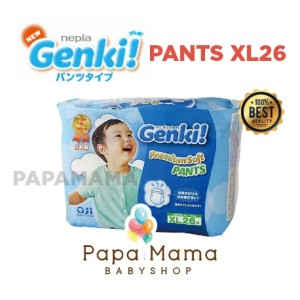 Harga nepia genki pants xl26 xl 26 perekat diaper popok bayi baby   HARGALOKA.COM