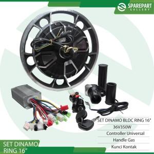Harga set dinamo sepeda listrik 36v350w ring 16 34 16inch | HARGALOKA.COM