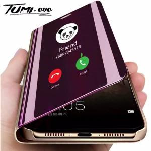 Harga hp mirror flip phone case xiaomi redmi note 8 pro casing   HARGALOKA.COM