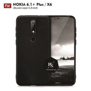 Harga darknight nokia x6 6 1 plus slim case black matte | HARGALOKA.COM