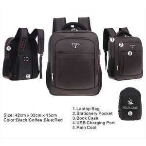 Harga tas ransel polo land 3316 c size 16 inch tas punggung pria tas pria   | HARGALOKA.COM