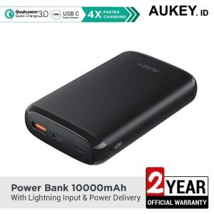 Harga aukey powerbank 10000mah with lightning input amp power | HARGALOKA.COM