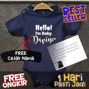 Harga murah jumper bayi baju bayi laki perempuan newborn baby jumpsuit keren   navy | HARGALOKA.COM