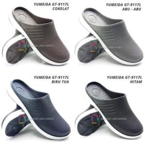Harga sepatu sandal karet pria sandal selop karet yumeida gt 9117 l   hitam | HARGALOKA.COM