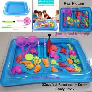 Harga 32pcs set pancingan dan kolam mainan anak   set | HARGALOKA.COM