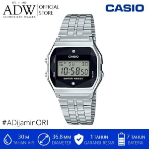 Harga casio men digital stainless steel watch with diamonds   | HARGALOKA.COM