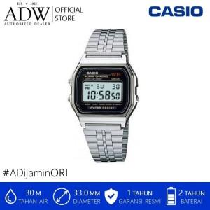 Harga jam tangan pria casio alarm chrono stainless steel   | HARGALOKA.COM