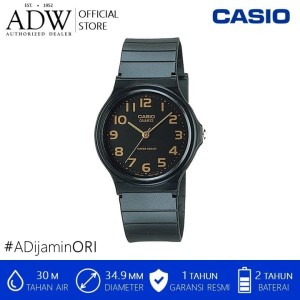Harga casio unisex analog black resin watch   | HARGALOKA.COM