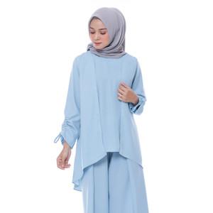 Harga kyoya eshana double layer tunic   blue tosca all | HARGALOKA.COM