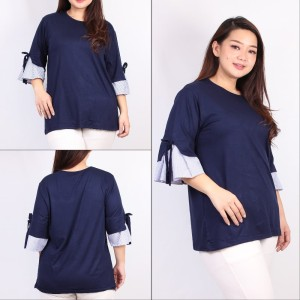 Harga blouse kerja wanita adem spandex ld 116 xxl super big | HARGALOKA.COM