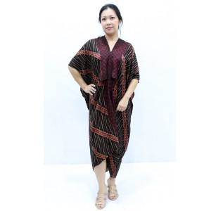 Harga dress batik taruni coklat   kaftan | HARGALOKA.COM