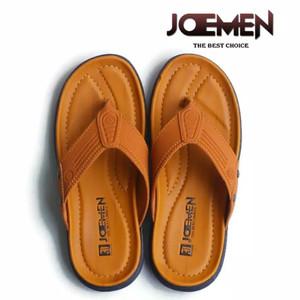 Harga sandal kulit pria terbaru 2020 joemen s 20 original pria jepit import   coklat muda | HARGALOKA.COM