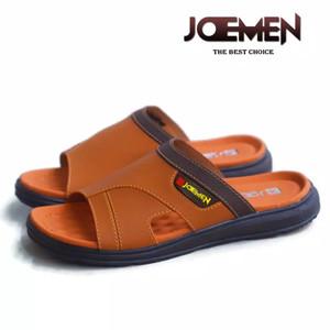 Harga sandal kulit pria terbaru 2020 joemen s 30 original pria import   coklat muda | HARGALOKA.COM