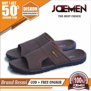 Harga sandal kulit pria terbaru 2020 joemen s17 original sandal jepit import   full coklat tua | HARGALOKA.COM
