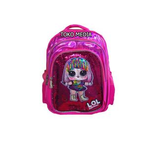 Harga tas ransel sekolah anak perempuan uk sd hologram sequin usap lampu   lol   HARGALOKA.COM
