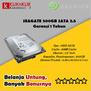 Harga seagate 500gb sata 2 5 inch hard disk internal laptop garansi 1 | HARGALOKA.COM
