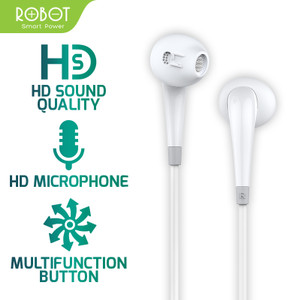 Harga robot earphone headset android iphone garansi resmi 1 tahun   re701   | HARGALOKA.COM