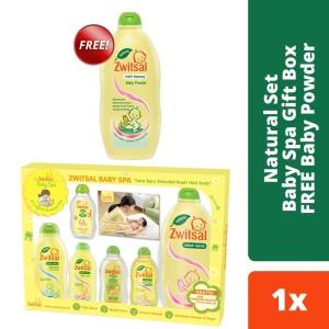 Harga zwitsal natural set baby spa gift box kado bayi free baby | HARGALOKA.COM