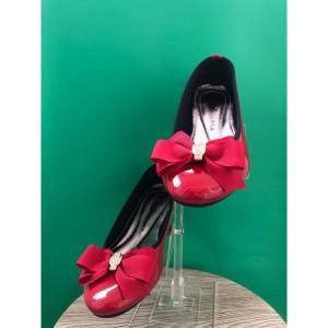 Harga sepatu flat wanita red glossy   spec 002   merah | HARGALOKA.COM