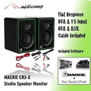 Harga mackie cr3 x cr3x cr 3x speaker flat studio monitor home | HARGALOKA.COM