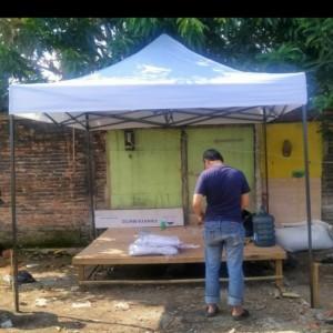 Harga tenda lipat matik uk 3x3m tebal 08   | HARGALOKA.COM