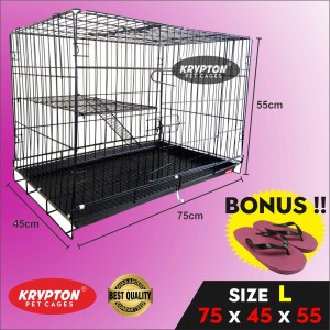 Harga kandang besi lipat tebal 75x45x55 anjing kucing hewan   HARGALOKA.COM