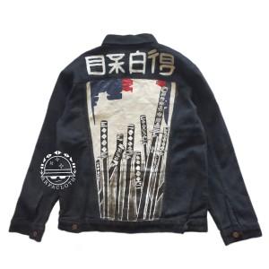 Harga arfacloth jaket jeans vintage black solid paint | HARGALOKA.COM