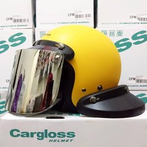 Harga helm cargloss exotic yellow doff dengan kaca datar | HARGALOKA.COM