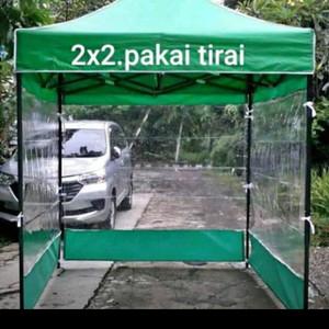 Harga tenda lipat 2x2 tirai 3 sisi   | HARGALOKA.COM