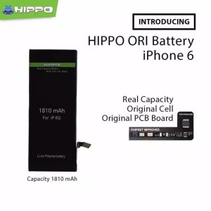 Harga hippo baterai batre iphone 6 batre original battery iphone 6 | HARGALOKA.COM