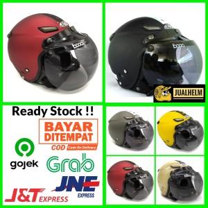 Harga helm jpn momo kaca bogo original helm klasik helm vespa   HARGALOKA.COM