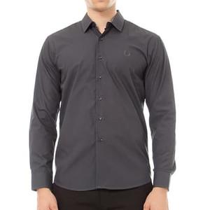 Harga odza classic basic long shirt charcoal   abu abu | HARGALOKA.COM