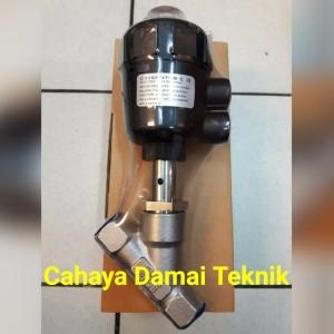 Harga piston valve pn25 dn15 angel seat valve 1 2 34 double | HARGALOKA.COM