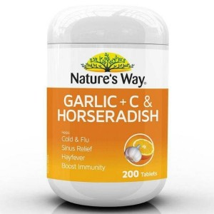 Harga nature 39 s way garlic c amp horseradish 200 tablets suplemen | HARGALOKA.COM