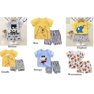 Harga set celana dan baju anak 6 bulan   4 tahun   bear   HARGALOKA.COM