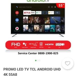 Harga led tv tcl android smart 4k 55a8 khusus bandung | HARGALOKA.COM