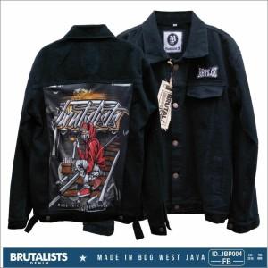 Harga jaket jeans original brutalist denim gambar printing   | HARGALOKA.COM