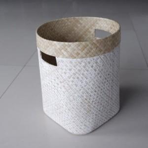 Harga keranjang serbaguna pandan whitewash cover pot | HARGALOKA.COM