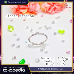 Harga cincin mas ayu collection model pentol2 ad 1 putih ring size | HARGALOKA.COM