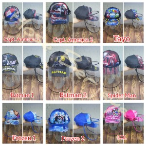 Harga topi anti corona face shield anak   half print character series   capt america | HARGALOKA.COM