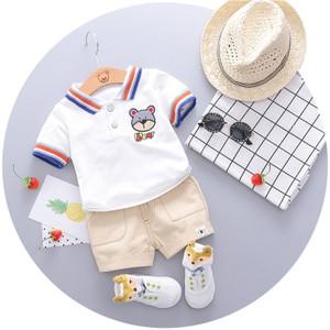 Harga setelan baju kaos polo clana pendek import anak bayi balita laki cowok   putih size | HARGALOKA.COM